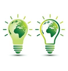 light bulb earth vector image