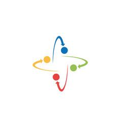 orbit arrow circle color logo vector image