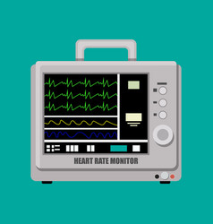 patient heart rate monitor vector image