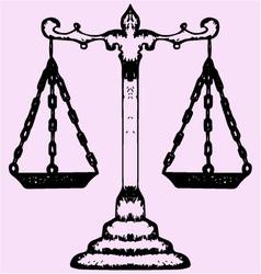 scales justice vector image