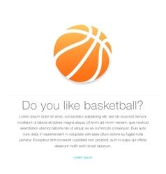 Basketball icon Orange basketball ball vector image