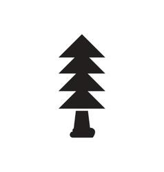 black icon on white background tree vector image