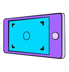 camera viewfinder icon cartoon vector image