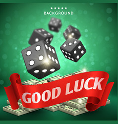 casino dice gambling background good luck vector image vector image