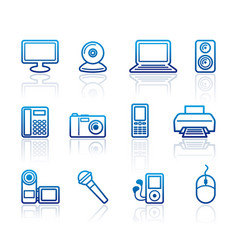 equipment icons vector image