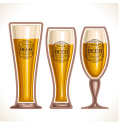 glass cups of beer vector image vector image