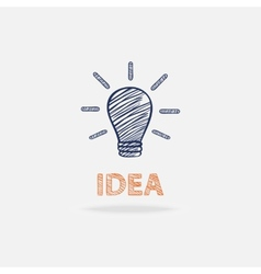 Idea conceptual with shadow and text isolated vector image vector image