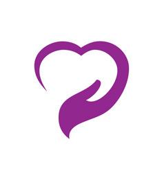 love hand sign logo vector image
