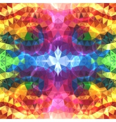 Rainbow colors abstract shining triangles vector image