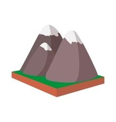 Rocky Mountains Canada icon cartoon style vector image vector image
