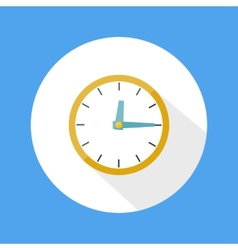Round office clock vector image