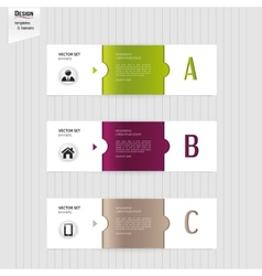 Set of colorful banners bookmarks labels website vector image