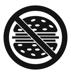 Stop fast food icon simple style vector