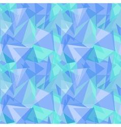 Abstract polygonal blue triangular seamless vector image vector image