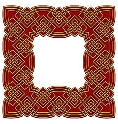 celtic border colored vector image vector image