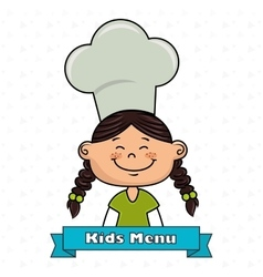 girl kids menu food vector image