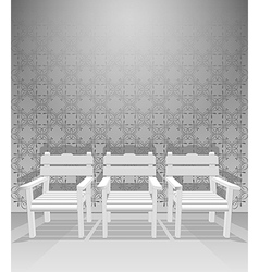 Interior chairs vector image
