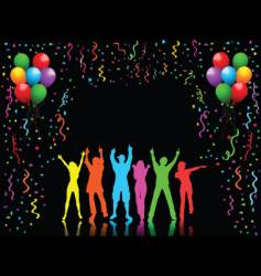 party people dancing vector image vector image