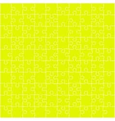 Yellow puzzles pieces square gigsaw - 100 vector