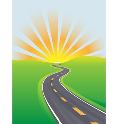 curving highway vector image vector image