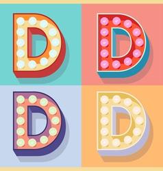 Letter d vector image