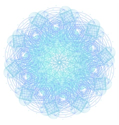 Mandala with sacred geometry symbols and elements vector