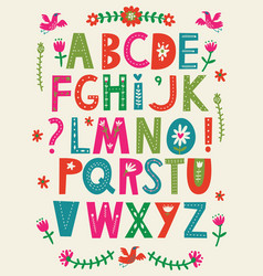 abc alphabet vector image