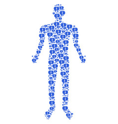 About man figure vector