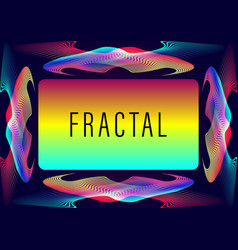 Abstract frame fractal vector