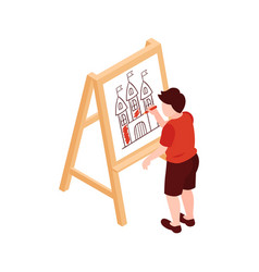 Art lesson 3d icon vector