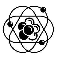 atom molecule icon simple style vector image