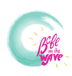 Babe on wave lettering vector