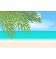 Beach and tropical sea landscape vector