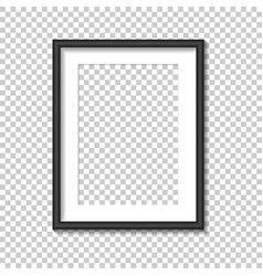 black photo frame template vector image