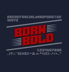 bold serif typeface uppercase letters numbers vector image