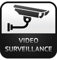 Cctv symbol video surveillance sign security camer vector