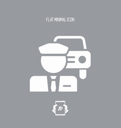 Chauffeur service button icon vector