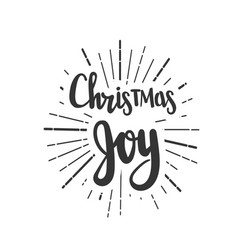 Christmas joy wishes for new year holiday vector