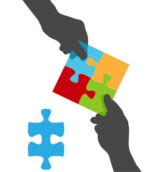 Collaborate puzzle vector