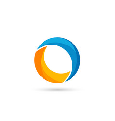 colorful circle logo template colorful letter o vector image