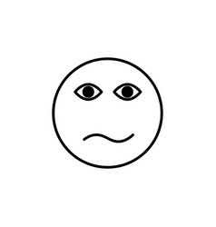 confused emoticon vector image