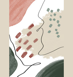 Creative minimalist hand painted abstract arts vector