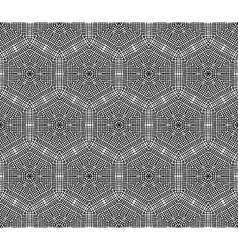 Crochet hexagons seamless pattern vector