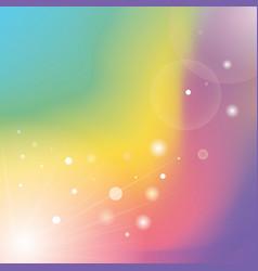 Defocused rays lights bokeh abstract banner vector