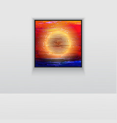Digital art double picture in color on the wall vector