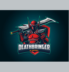 esport logo with big sword vector image