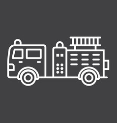 fire engine line icon transport and vehicle vector image