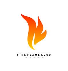 Fire logo concept fire leaf logo template vector