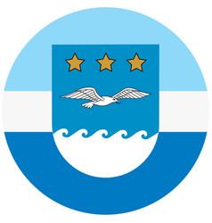 Flag of jurmala city latvia ilustration vector