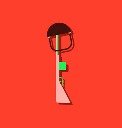 Flat icon design collection military rifle vector